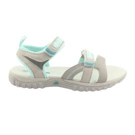 Girls' sandals American Club HL14 gray / mint