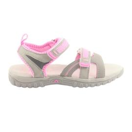 Girls' sandals American Club gray / pink