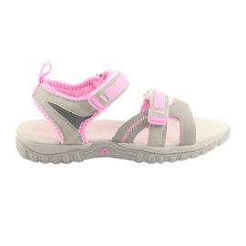 Girls' sandals American Club gray / pink