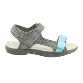 Sandals with leather insert American Club RL10 gray / blue