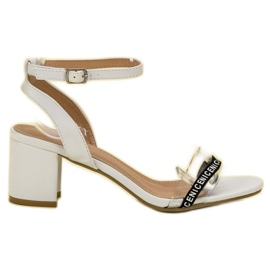 Ideal Shoes white Stylish Suede Sandals