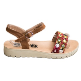 SHELOVET Casual Sandals brown