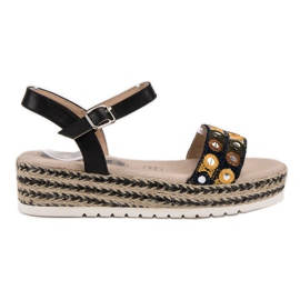 SHELOVET black Sandals on the platform