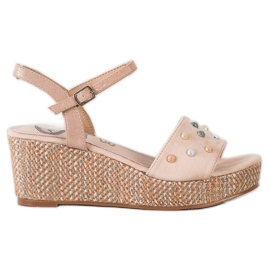 Aclys brown Casual wedge sandals