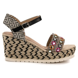 Aclys multicolored Sandals Wedge Etno