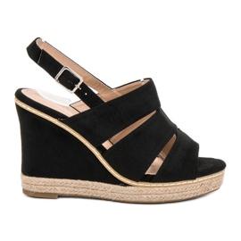 Primavera Black Sandals