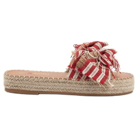 Seastar red Slippers With Belts
