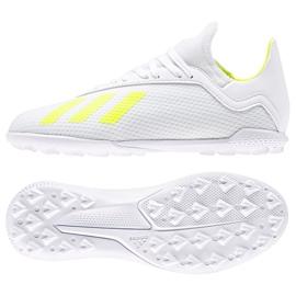 Football boots adidas X 18.3 Tf Jr BB9404 white white, yellow