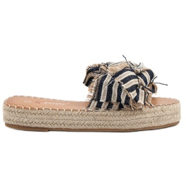 Seastar Slippers With Belts