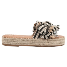 Seastar Slippers With Belts brown
