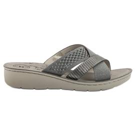 Evento grey Comfortable Gray Slippers