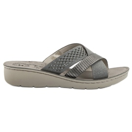 Evento grey Comfortable Gray Slippers