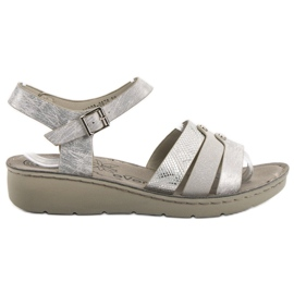 Evento grey Silver Sandals