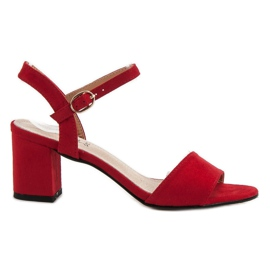 Evento Sandals On A Bar red
