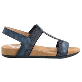Evento Blue Slip-on Sandals