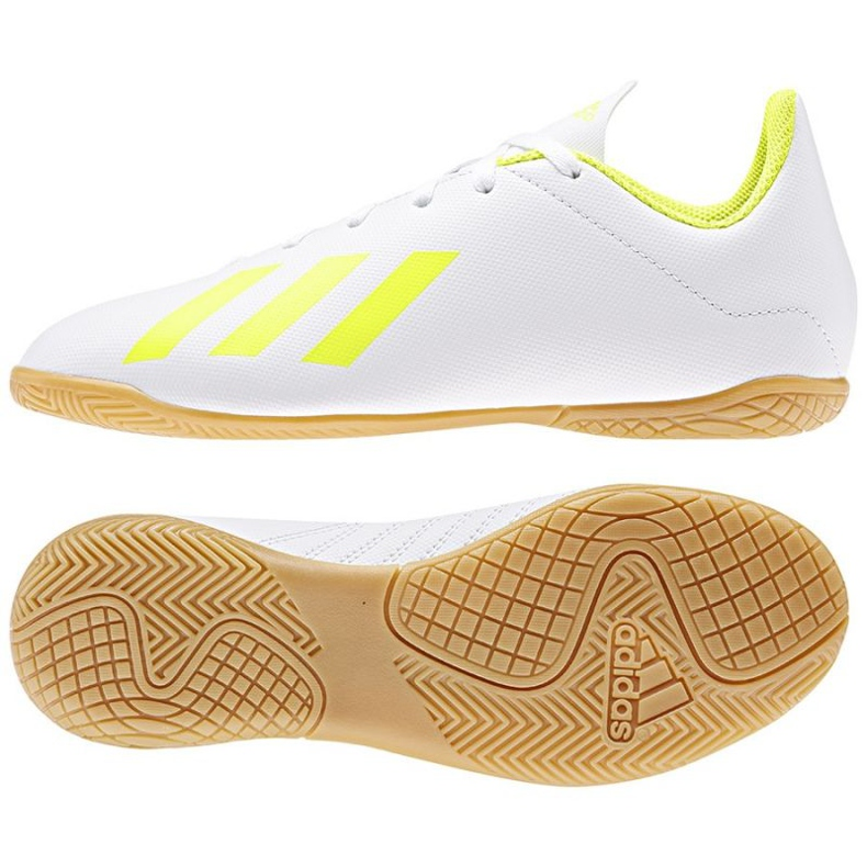 Indoor shoes adidas X 18.4 In Jr BB9411 white multicolored