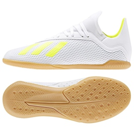 Indoor shoes adidas X 18.3 In Jr BB9397 white multicolored