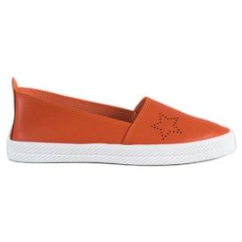 Kylie orange Slip-on sneakers