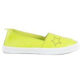 Kylie green Slip-on sneakers