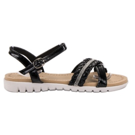 Groto Gogo Sandals With crystals black