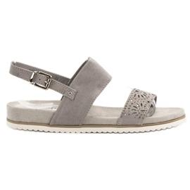 Evento grey Gray Openwork Sandals