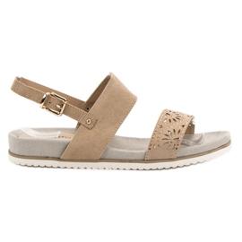 Evento brown Beige Openwork Sandals