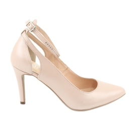 Brown Women's shoes Edeo 3212 beige pearl