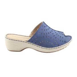 Women's slippers koturno Caprice 27351 jeans blue