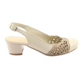 Brown Gregors 771 beige women's sandals
