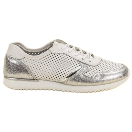 Filippo Silver Leather Shoes