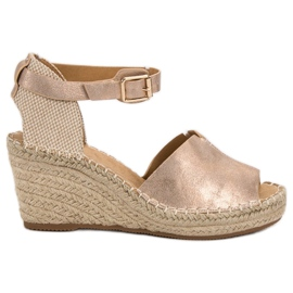 Evento pink Casual wedge sandals