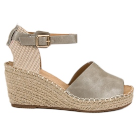 Evento grey Casual wedge sandals