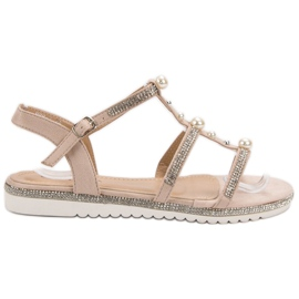 GUAPISSIMA Sandals With Pearls pink