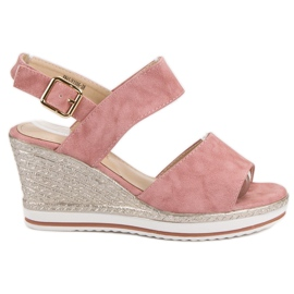 SHELOVET Light Pink Sandals