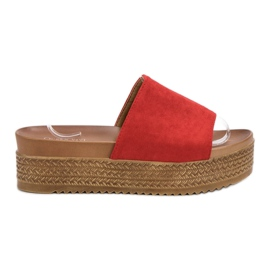 Queen Vivi red Slippers On Platform
