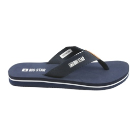 Big Star flip-flops navy blue