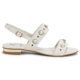 Kylie white Comfortable flat sandals