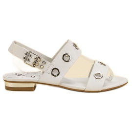 Kylie Casual White Sandals