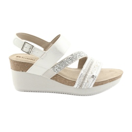 Sandals wedge INBLU EN009 silver