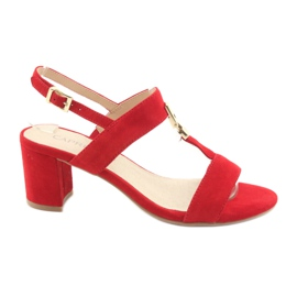 Sandals on the post red Caprice 28303