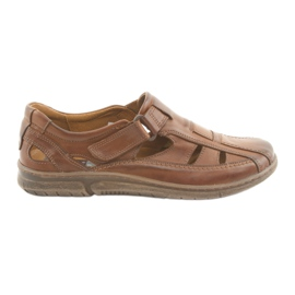 Riko 458 brown men's comfort sandals