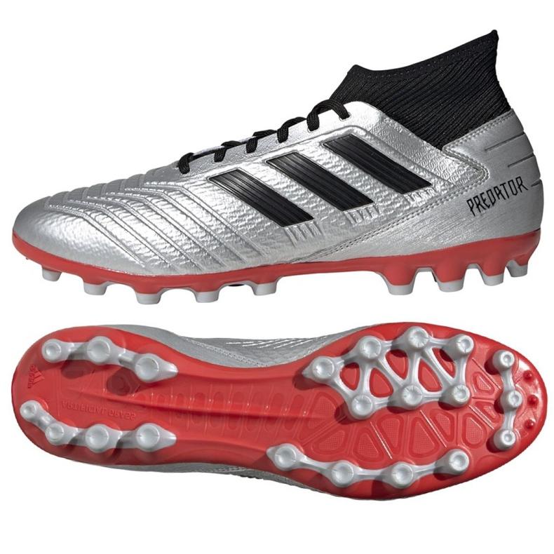 Football boots adidas Predator 19.3 Ag M F99989 multicolored silver