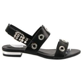Kylie Casual Black Sandals