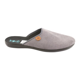 Grey Slippers Adanex men's slippers gray