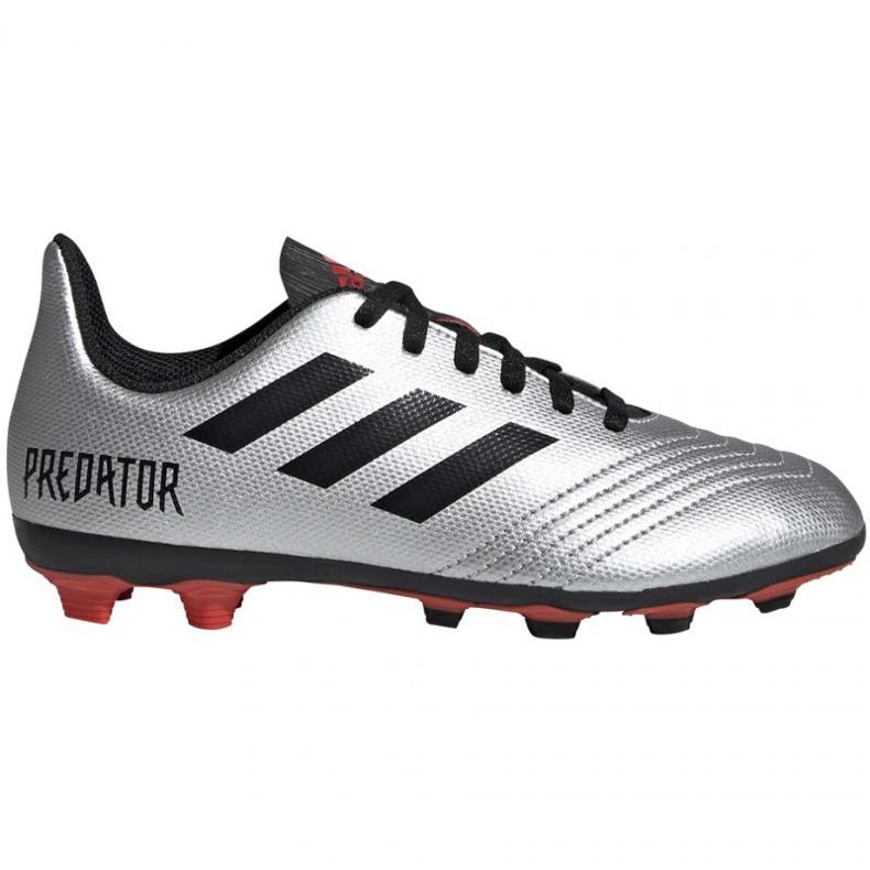 Football boots adidas Predator 19.4 FxG Jr G25822 multicolored silver