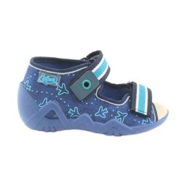 Befado children's shoes 350P004 blue green navy