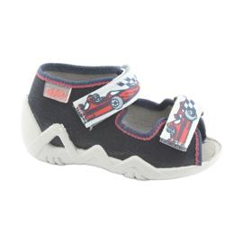 Befado children's shoes 250P084 grey red navy