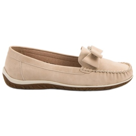 Anesia Paris brown Moccasins With a bow
