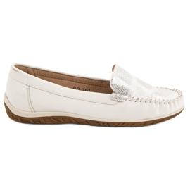 Anesia Paris white Comfortable moccasins