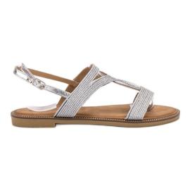 Erynn grey Silver Sandals
